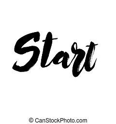 Start lettering design. - Start hand drawn lettering design....