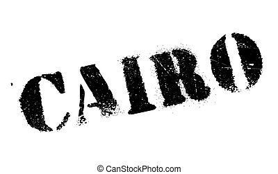 Cairo stamp rubber grunge - Cairo stamp. Grunge design with...