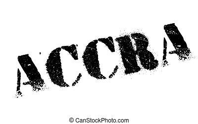 Accra stamp rubber grunge - Accra stamp. Grunge design with...