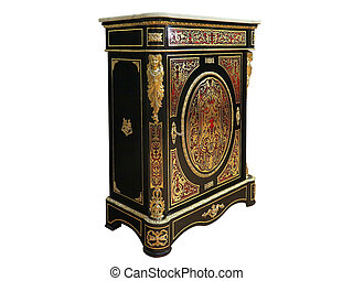 19th century Boulle Cabinets French Sideboard inlay with red...