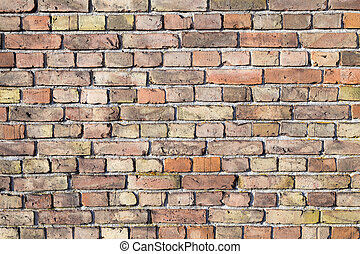 exterior Brick Wall - old grunge exterior red Brick Wall...