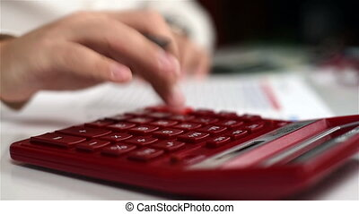 Man Calculate Income - Businessman On The Calculator To...
