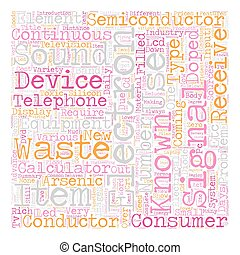 Consumer Electronics Items text background wordcloud concept