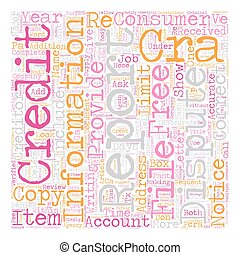 Consumer Report text background wordcloud concept