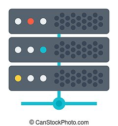 Big Data or Server Icon - Big data concept with server and...