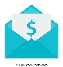 Email Money Transfer Concept - Concept of email money...