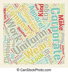Corporate Apparel text background wordcloud concept