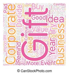 Corporate Gift Ideas The Minefield text background wordcloud...
