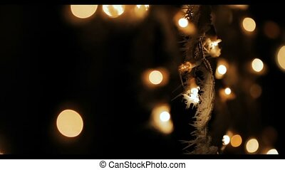 outdoor christmas lights bokeh