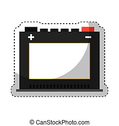 battery car isolated icon vector illustration design