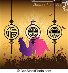 Abstract chinese new year with Traditional Chinese Wording...