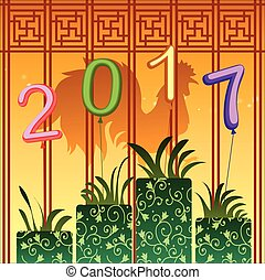 Abstract chinese new year graphic and background....