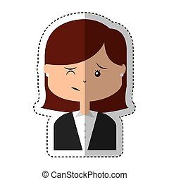 angry person character icon