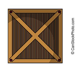 box wood container isolated icon