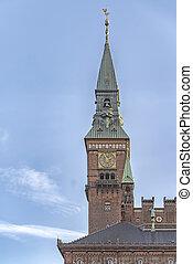 Copenhagen Town Hall - View of Copenhagen city hall,...