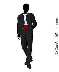 婚禮, 新郎, 無尾禮服, 黑色半面畫像