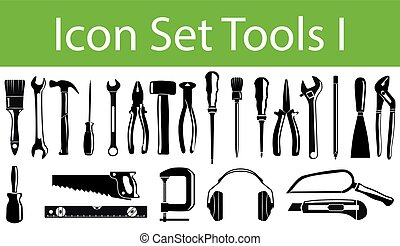 Icon Set Tools I with 23 icons for the creative use in...