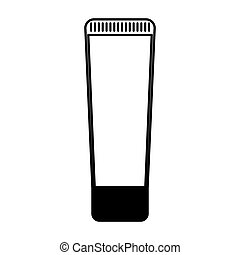 facial cream bottle isolated icon