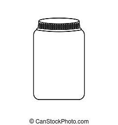 mason jar isolated icon vector illustration design