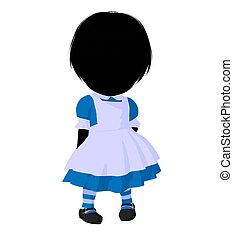 Little Alice In Wonderland Silhouette - Little alice in...