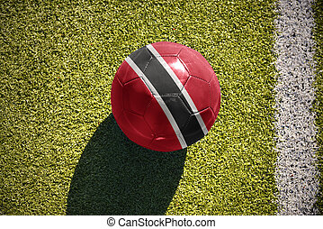 football ball with the national flag of trinidad and tobago...