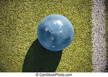 football ball with the national flag of Federated States of...