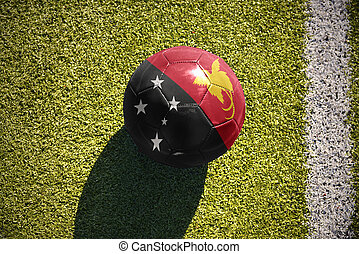 football ball with the national flag of Papua New Guinea...