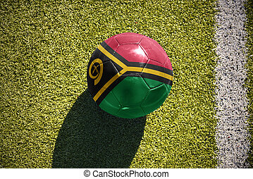 football ball with the national flag of Vanuatu lies on the...