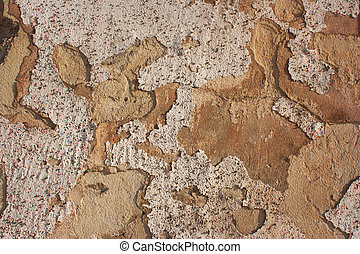 Abstract white, orange cement background, concrete texture