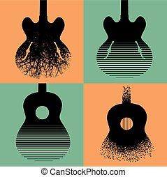 Four interesting guitar designs to choose from