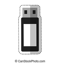 usb memory flash icon vector illustration design vector...
