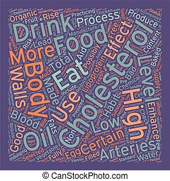 diet to lower cholesterol text background wordcloud concept