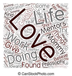 Do What You Love Love What You Do text background wordcloud concept