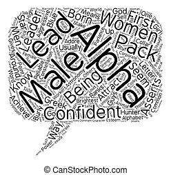 Do Women Like Alpha Males text background wordcloud concept