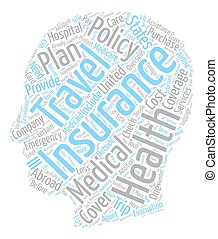 Do You Need Health Or Travel Insurance text background wordcloud concept