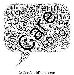 Don t Be Fooled By Instant Quote Long Term Care Insurance Websites text background wordcloud concept