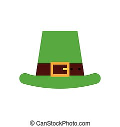 Saint Patrick's Day design - irish hat icon over white...