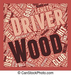 Drivers and Fairway Woods text background wordcloud concept