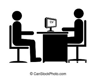 Job Interview 1 - Silhouette Job Interview Male Boss Male...
