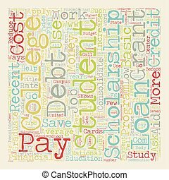 Eight Ways To Pay Off Student Loan Debt text background wordcloud concept