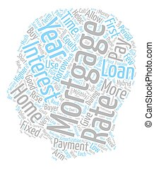 Exotic Mortgage text background wordcloud concept