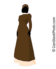 Victorian Woman Illustration Silhouette - Victorian woman...
