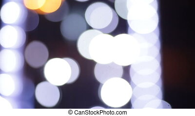 abstract background of white lights blurry.