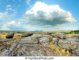 """Beautiful summer landscape - National Park """" Stone Tombs """"...."""