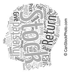 Fair Value of A Common Stock text background wordcloud...