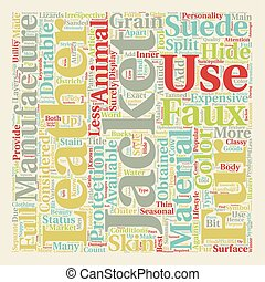 Faux Fur and Suede Leather Jackets text background wordcloud...
