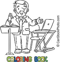 Funny univercity lector - Coloring book of funny univercity...