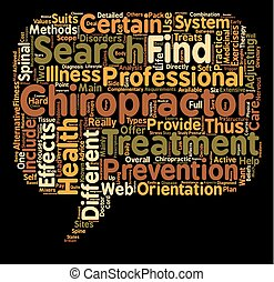 find a chiropractor text background wordcloud concept