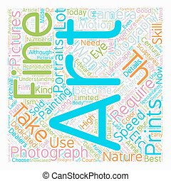 Fine Art Photography text background wordcloud concept