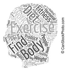 Fitness and Exercise Advice text background wordcloud...